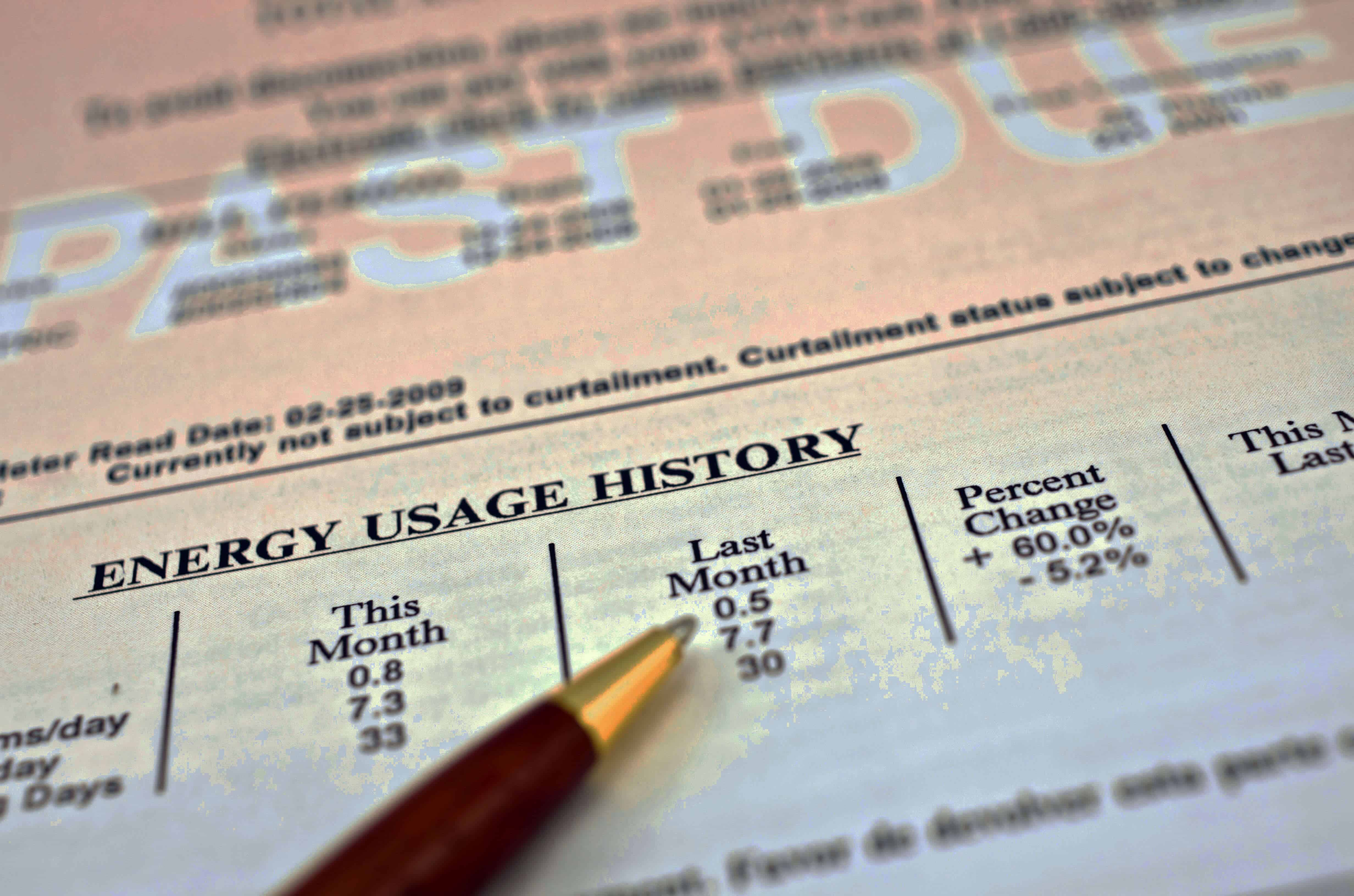 Past Due Utility Bill